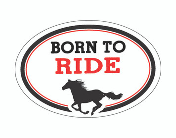 Born To Ride OVAL Horse Magnet