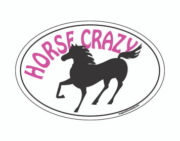 Horse Crazy OVAL Magnet