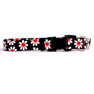 Black Daisy Horse Neck Collar