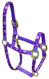 Purple Flowers Flowers High Fashion Horse Halter