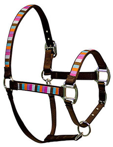 Multi Stripe Equine Elite Halter For Miniature Horse