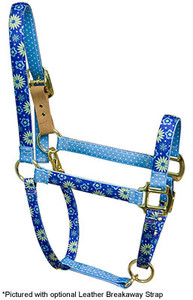 Teal Flowers Flowers High Fashion Horse Halter