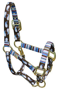 Brown Paisley High Fashion Horse Halter