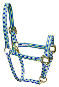 Blue Green Argyle High Fashion Horse Halter