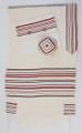 Gvura Tallit shown with optional matching bag and kippah