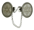 Oval Magen David Tallit Clips