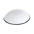 White with Black Trim DMC Knitted Kippah