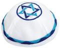 Satin Kippah with Blue Magen David
