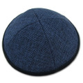Blue Linen Kippah