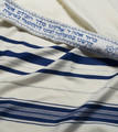 Blue-Silver Traditional Wool Tallit