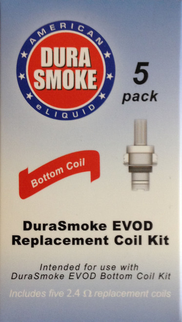 5 pack of EVOD Replacement Coil Kit