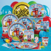 All Aboard The Two Birthday Train Make Your Little Engineers 2nd Party Even More Spectacular With This Theme Goods Include Paper