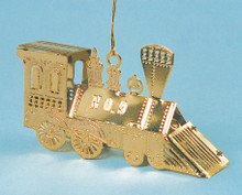 Brass Christmas Train Ornament