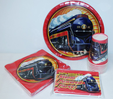 Classic Steam Train Deluxe Party Pack
