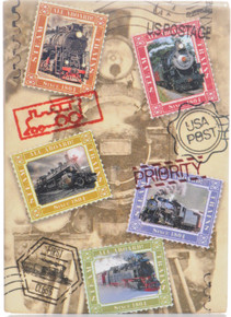 U.S. Passport Postage Stamp  Train Icon Magnet