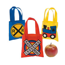 Train Party Mini Tote Bags