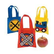 Train Party Mini Tote Bags