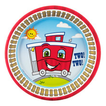 Two-Two Train 2nd Birthday Dessert Plates (8 ct)
