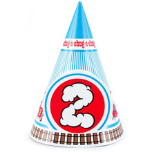 Two Train 2nd Birthday Cone Hats