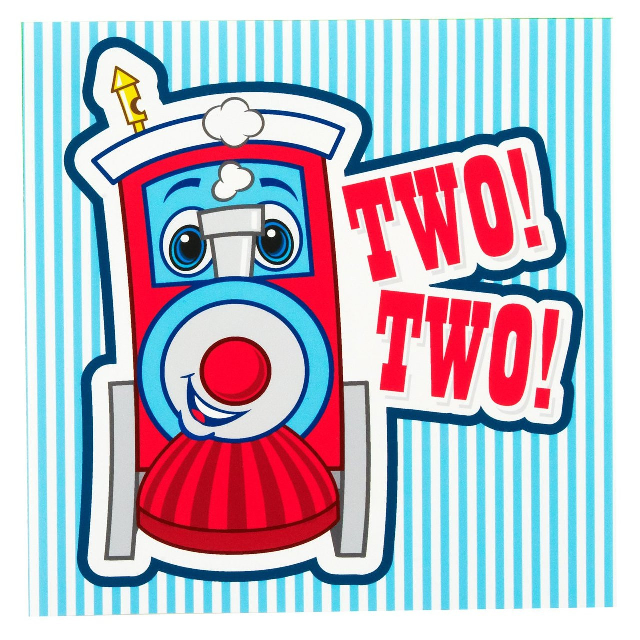 Two-Two Train 2nd Birthday Lunch Napkins (16 Ct