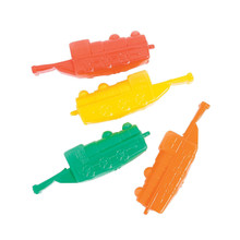 Soft Plastic Train Shaped Whistles Open