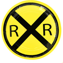 Railroad Crossing Train Party Dessert Plates (8 ct)