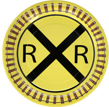 Railroad Crossing Train Party Dinner Plates (8 ct)