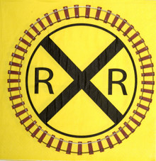 Railroad Crossing Train Party Luncheon Napkins (Folded)