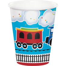 All Aboard Train Party 9 oz Cups (8 ct)