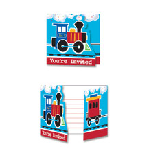 All Aboard Train Party Invitation Cards (8 ct)