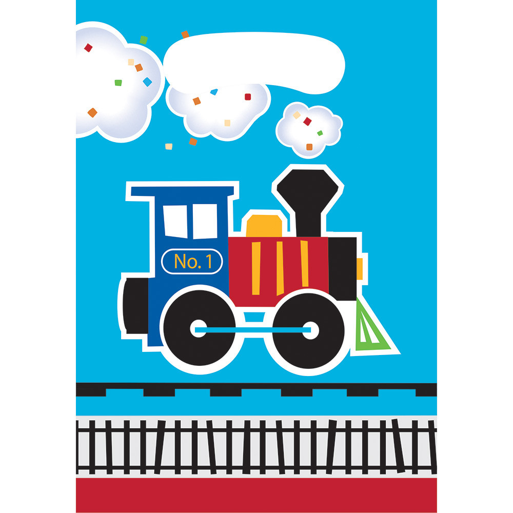 First Birthday Boy Party Loot Bag Single: All Aboard Train Party Loot Bags (8 Ct