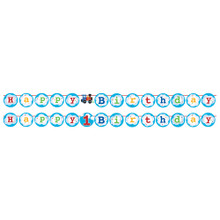 All Aboard Train Party Shaped Ribbon Banner