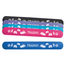 Train Icon Slap Rubber Bracelet