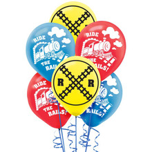 Ride the Rails Latex Balloons (6 ct)