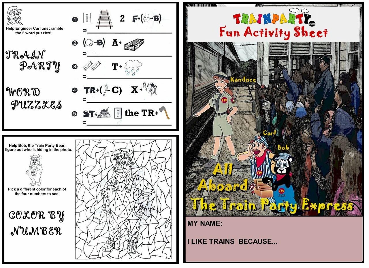 Train Theme Activity Worksheet