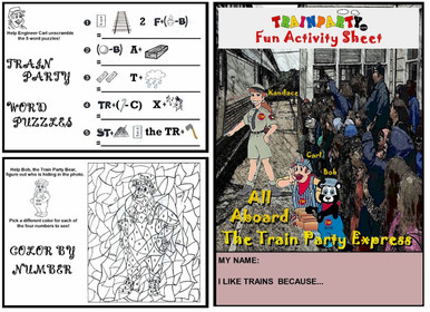 Train Theme Activity Worksheet Frontside