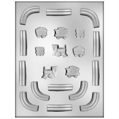 Train & Railroad Track Chocolate Mold