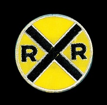Railroad Crossing Sign Iron-on Patch