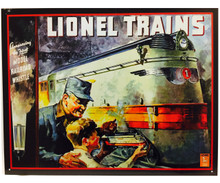 Hallmark Great American Railways 1935 Lionel Catalog Cover Tin Sign