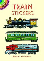 Train Stickers Book