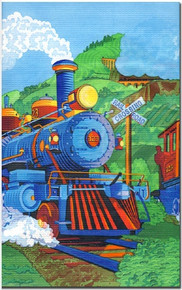 Express Train Tablecover