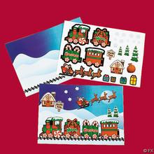 Make-A-Christmas Train Sticker Sheets (24 sheets)