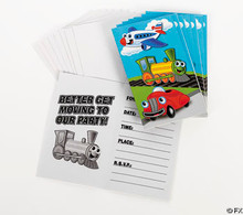 Planes Trains and Autos Invitations