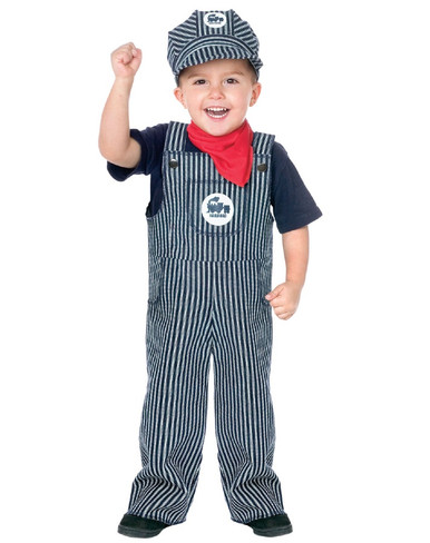 Railroad Engineer Toddler Costume (Large: 3T - 4T)