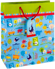 Circus Train Large Gift Bag