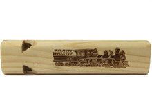 Mini Toot Wooden Train Whistle (2 Tone) Front