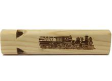 Mini Toot Wooden Train Whistle (2 Tone) Front