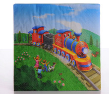 Little Chug Train Party Beverage Napkins