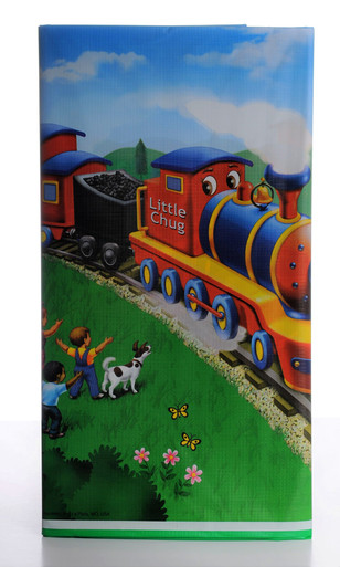 Little Chug Train Party Table Cover