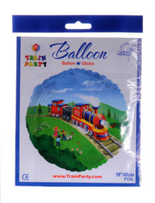 Little Chug Train Party Mylar Balloon